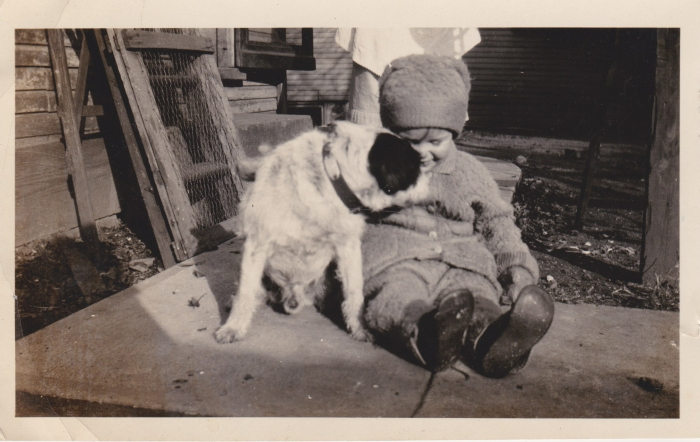 george and dog